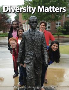Students around the Meredith statue